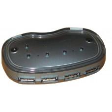 Концентратор 4 портовый USB 1.1  маленький с блоком питания